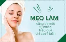 Mẹo làm căng da mặt tự nhiên hiệu quả chỉ sau 1 tuần